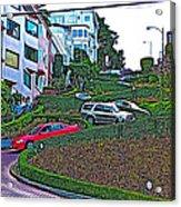 Lombard Street In San Francisco-california  Acrylic Print