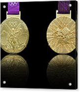 London 2012 Olympics Gold Medal Design Acrylic Print