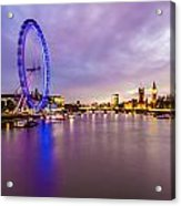 London At Night Acrylic Print