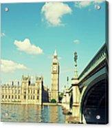 London Big Ben Houses Of Parliament Acrylic Print
