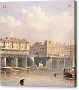 London Bridge, 1835 Acrylic Print