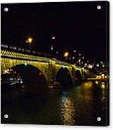 London Bridge Night Acrylic Print