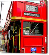 London Bus Heading To Kensington Acrylic Print