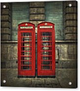 London Calling Acrylic Print by Evelina Kremsdorf
