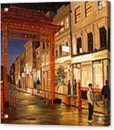London Chinatown Acrylic Print