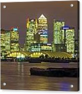 London Docklands Acrylic Print by Dawn OConnor