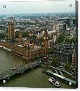 London England From The London Eye Acrylic Print