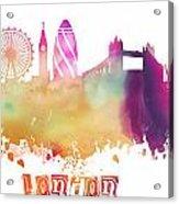 London England Skyline Pastel Acrylic Print