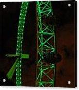 London Eye At Night Acrylic Print