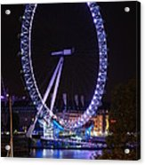 London Eye By Night Acrylic Print