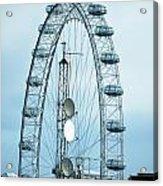 London Eye Framing Antennae Acrylic Print