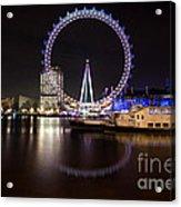 London Eye Night Acrylic Print