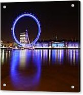 London Eye Reflections Acrylic Print
