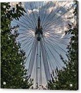 London Eye Vertical Panorama Acrylic Print