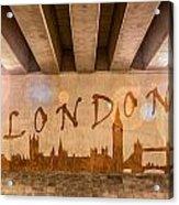 London Graffiti Skyline Acrylic Print