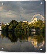 London - Illuminated And Reflected Acrylic Print