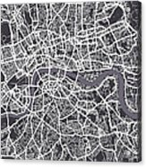 London Map Art Acrylic Print