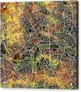 London Map Brown Acrylic Print