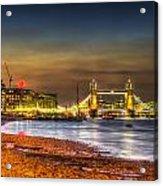 London Night View Acrylic Print
