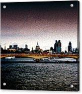 London Over The Waterloo Bridge Acrylic Print