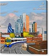 London Overland Train-hoxton Station Acrylic Print