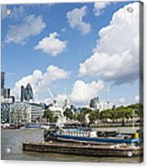 London Panoramic Acrylic Print by Donald Davis