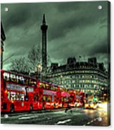 London Red Buses And Routemaster Acrylic Print by Jasna Buncic