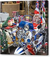 London Scooters Acrylic Print