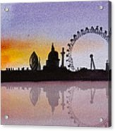 London Skyline At Sunset Acrylic Print