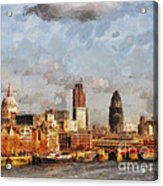 London Skyline From The River  Acrylic Print