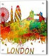 London Skyline Watercolor Acrylic Print