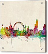 London Skyline Watercolour Acrylic Print