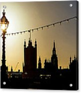 London South Bank Silhouette Acrylic Print