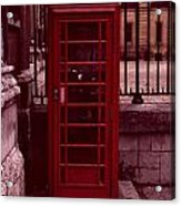 London Telephone Acrylic Print