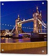 London Tower Bridge By Night Acrylic Print