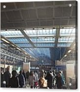 London Train Station Acrylic Print