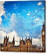 London Uk Big Ben The Palace Of Westminster Acrylic Print