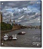 London's Thames River Acrylic Print