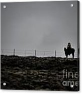 Lone Cowboy Acrylic Print