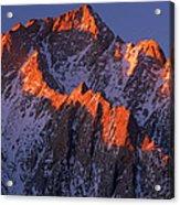 Lone Pine Peak - February Acrylic Print