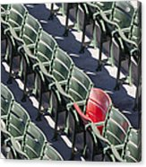 Lone Red Number 21 Fenway Park Acrylic Print
