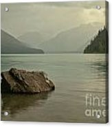 Lone Rock In Cheakamus Lake Acrylic Print