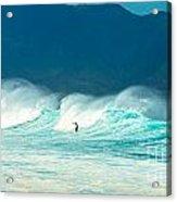 Lone Surfer Acrylic Print