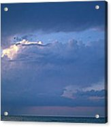 Lone Thunderstorm On Lake Erie Acrylic Print