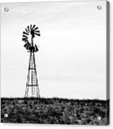 Lone Windmill Acrylic Print
