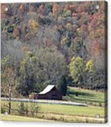 Lonely Barn In The Cove Acrylic Print