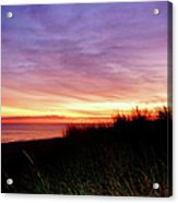 Lonely Beach At Sunrise Norfolk Va Acrylic Print