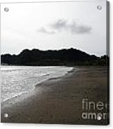 Lonely Beach In Costa Rica Acrylic Print