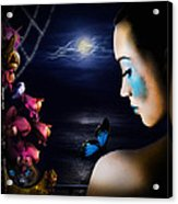 Lonely Blue Princess And The Villains Acrylic Print by Alessandro Della Pietra
