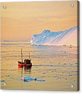 Lonely Boat - Greenland Acrylic Print